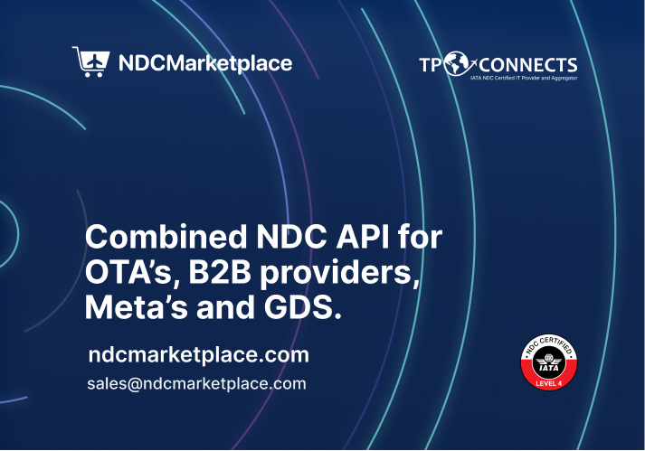 Combined NDC API for OTA's, B2B providers, Meta's and GDS from NDCMarketplace.
